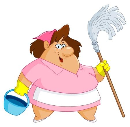 señora: Mujer de limpieza