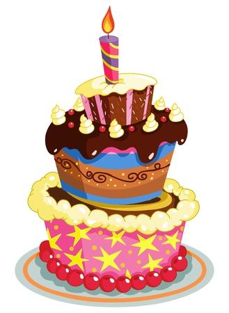 Gâteau d'anniversaire Banque d'images - 10451689