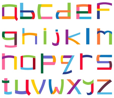 block letters: Colorful lower case alphabet set Illustration