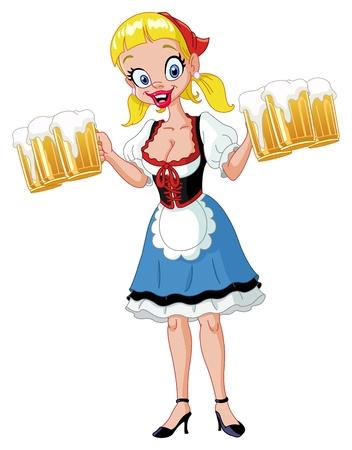 sexy girl cartoon: Oktoberfest girl