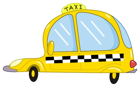 servicios publicos: Caricatura de taxi