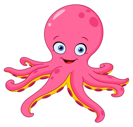 Cute octopus Stock Vector - 10657099