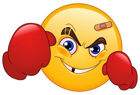 Boxer emoticon Stock Vector - 10657101