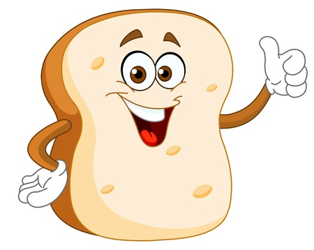 toast: Slice of bread cartoon