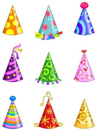 payaso: Conjunto de sombrero fiesta Vectores