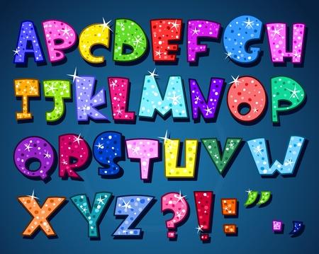 Sparkling alphabet Vector