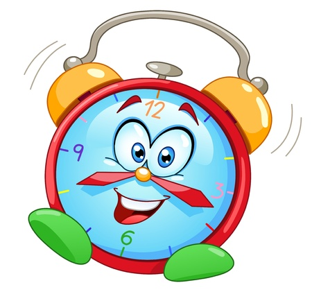 ringing: Cartoon alarm clock