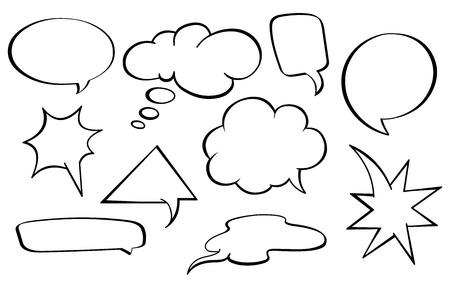 burbujas de pensamiento: Conjunto de burbujas de discurso