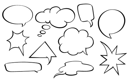 thought bubble: Speech bubbles set