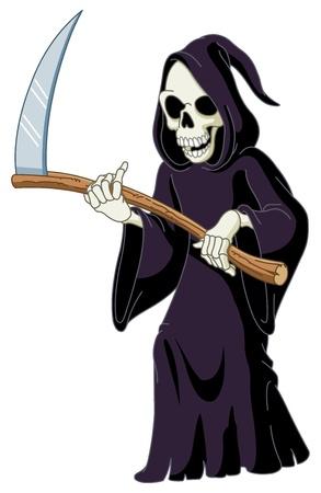 zombie cartoon: Grim reaper