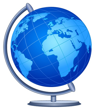 globe earth: World globe Illustration