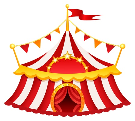 cartoon circus: Circus tent