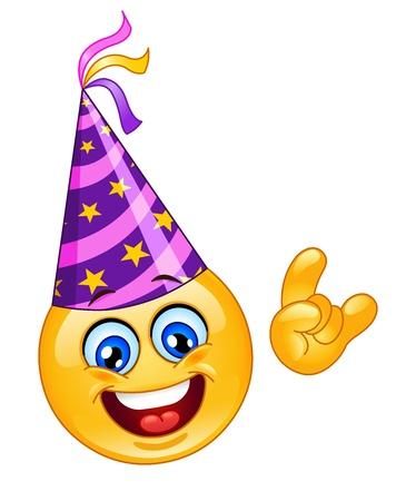 Party emoticon Vector