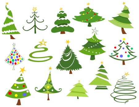 christmas trees: Christmas tree set