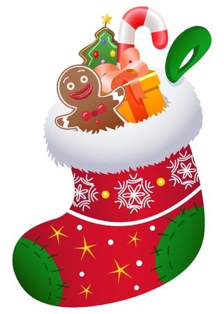 christmas sock: Natale calzino