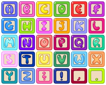 Colorful alphabet blocks Vector
