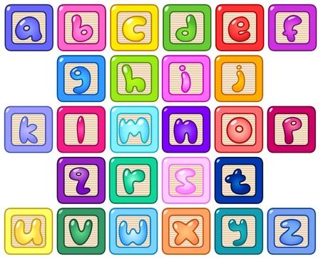 alphabet: Bunte Kleinbuchstaben-Bl�cke
