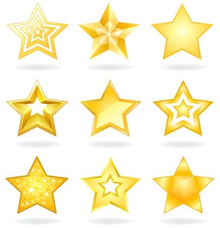 estrellas de navidad: Iconos de estrella