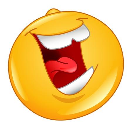 cara sonriente: Riendo a emoticon fuerte