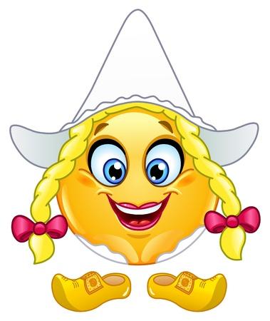 smiles: Hollandaise fille �motic�ne