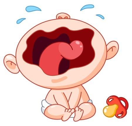 Huilende baby Vector Illustratie