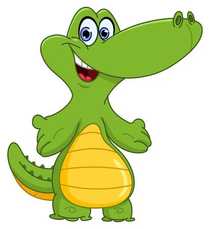 crocodile skin: Young crocodile