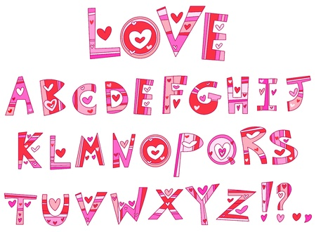 Love alphabet Stock Vector - 11934919