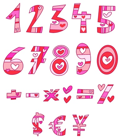 Love numbers Stock Vector - 11934914