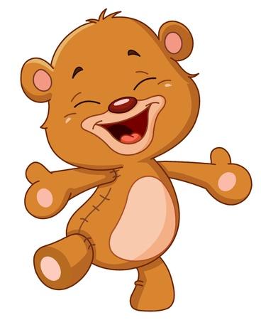osito caricatura: Alegre oso de peluche