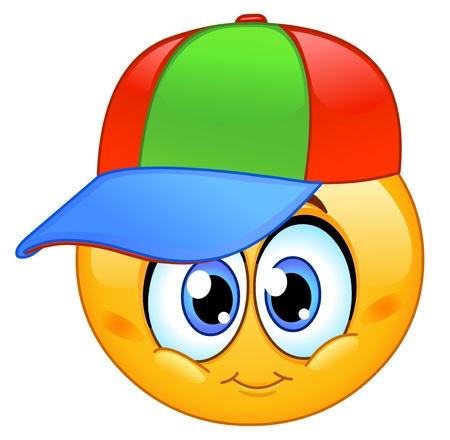 smiles: �motic�ne Kid coiff� d'une casquette de base-ball