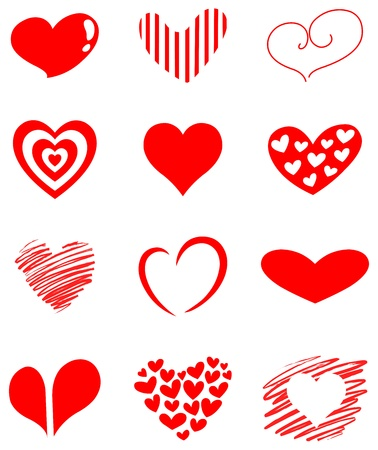 shapes: Heart set Illustration