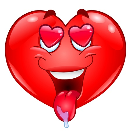 En el corazón de amor Ilustración de vector