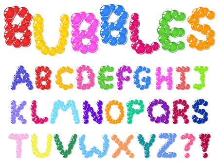 word bubble: Bubbles alphabet