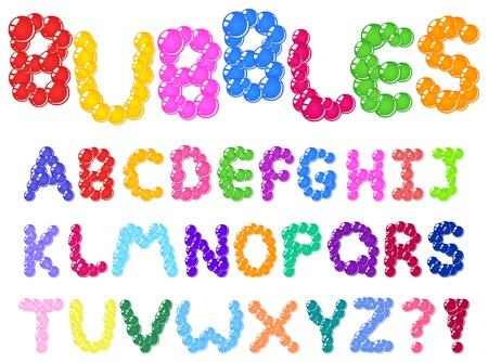 abecedario: Burbujas alfabeto Vectores