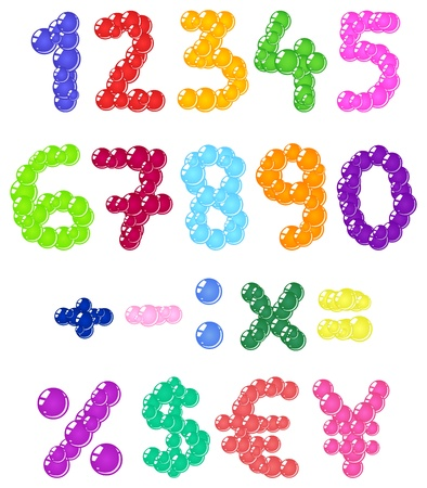 Bubbles numbers Vector