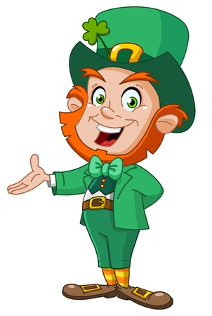 irish: Leprechaun presenting