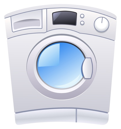 washing machine: Lavadora Vectores