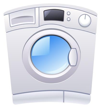 clothes washing: Lavadora Vectores