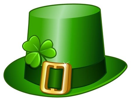st  patrick's: St Patricks hat Illustration