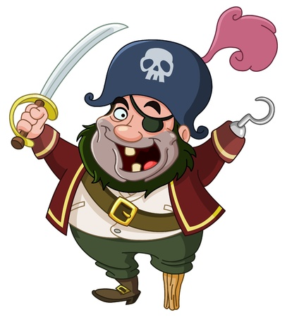 white patches: Cartoon pirate