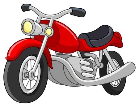 motor race: Red motorfiets