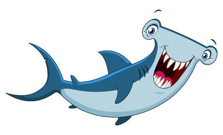 white shark: Hammerhead shark