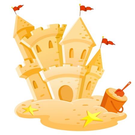 chateau de sable: De ch�teaux de sable Illustration