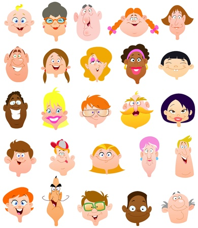 People faces Stock Vector - 13408770