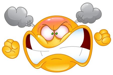 caras emociones: Furioso emoticono