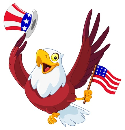 uncle: American patriotic eagle Illustration