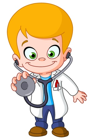 Kid doctor Stock Vector - 13677714