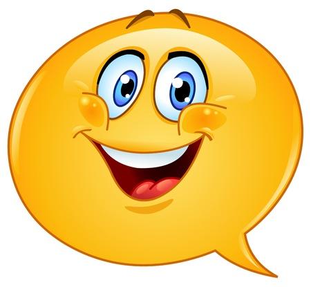 cara sonriente: Discurso de burbujas emoticono