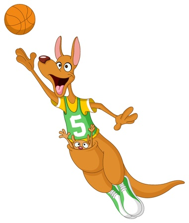 Basketball kangaroo Vector