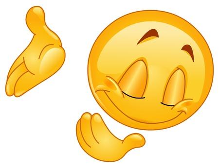 smiley: Emoticon buigen Stock Illustratie